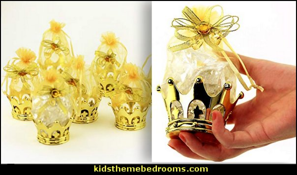 Gold Crown Fillable For Candies, Table Decorations, Party Favors, Party Candies Gifts, Baby Shower