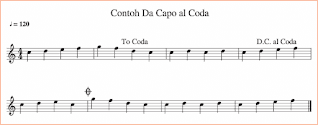 gambar contoh notasi da capo al coda