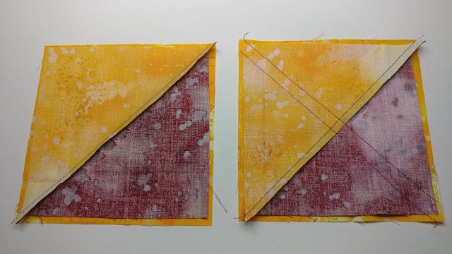 Sewing quarter square triangles