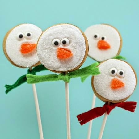 Snowman Cookie Pops, Celebrations