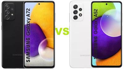 مقارنة بين هاتف سامسونج Samsung Galaxy A52 و Galaxy A72
