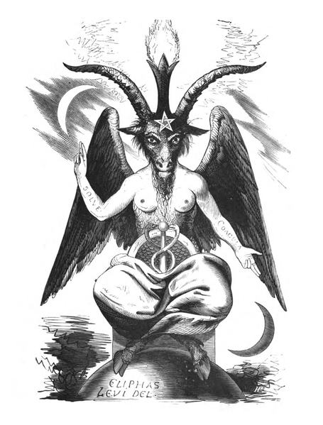 Satan in the form of Baphomet