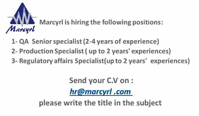Marcryl Pharmaceuticals - Hiring for QA / Production / Regulatory Affairs | Apply Now