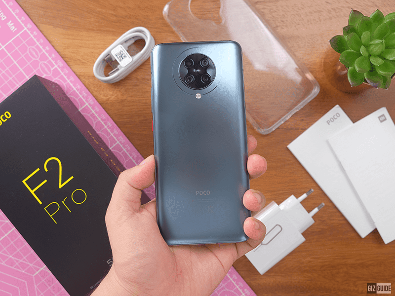 POCO F2 Pro is made out of a glass and metal materials