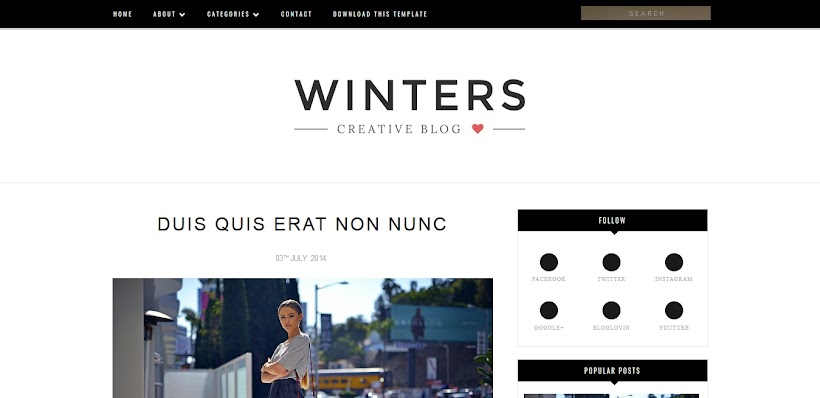 Winters Free Blogger Template