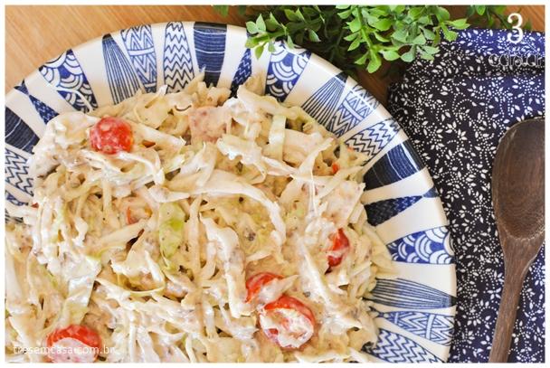 salada de repolho com sardinha receita