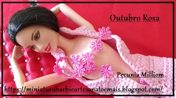 """Ensaio Fotográfico: """"Barbie Raquelle Outubro Rosa Contra o Câncer de Mama"""""""