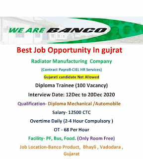Diploma Jobs Vacancy In Banco Products (India) Ltd Radiator Manufacturing Company