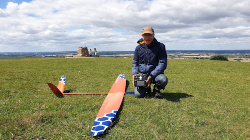Test flying at Ivinghoe Beacon