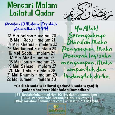 Pecutan 10 Malam Terakhir Ramadhan 1441H