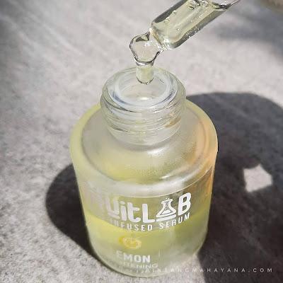 tekstur-fruitlab-fruit-infused-serum-lemon-bintang-mahayana-com