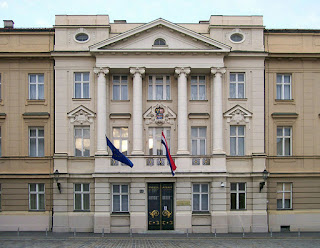 Building of Croatian Parliament in Zagreb