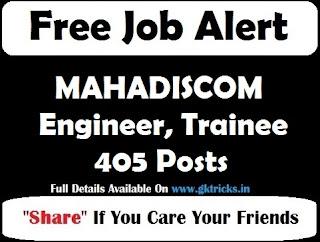 MAHADISCOM Engineer, Trainee 405 Posts