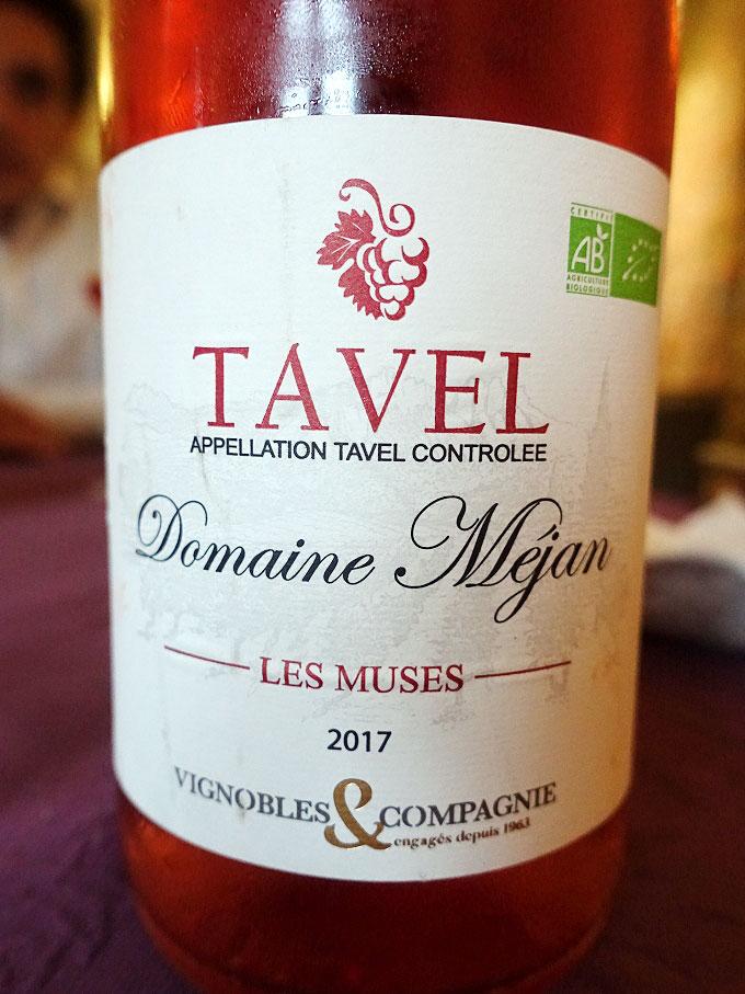 Vignobles & Compagnie Domaine Méjan Les Muses Tavel 2017 (88 pts)