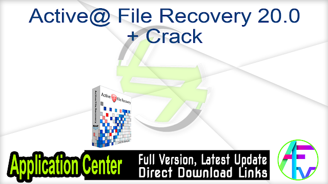Active@ File Recovery 18.0.2 + Crack