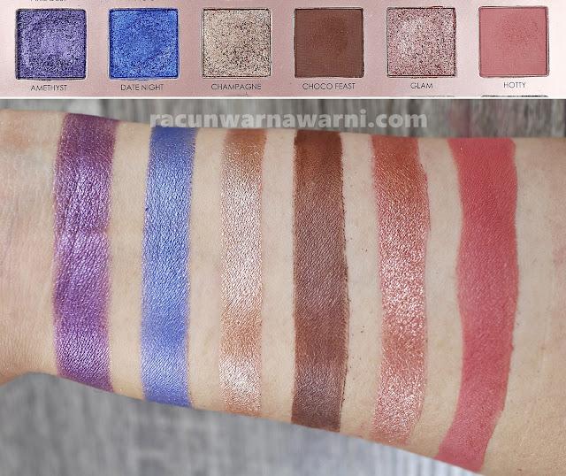 Swatch Focallure 30 Eyeshadow Palette