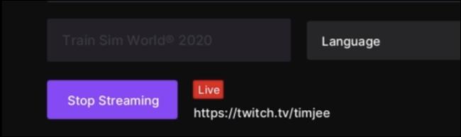 توقف عن البث في Twitch for Xbox