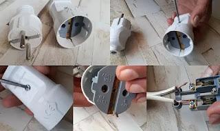 تركيب الفيشه النتايه .طريقة عمل وصلة كهرباء