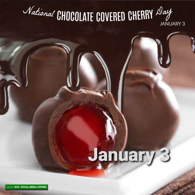National Chocolate Covered Cherry Day Wishes Beautiful Image