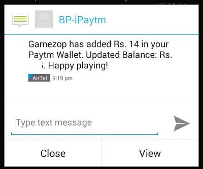 Gamezop Payment Proof