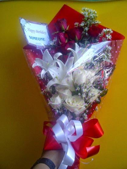 rangkaian mawar + lily