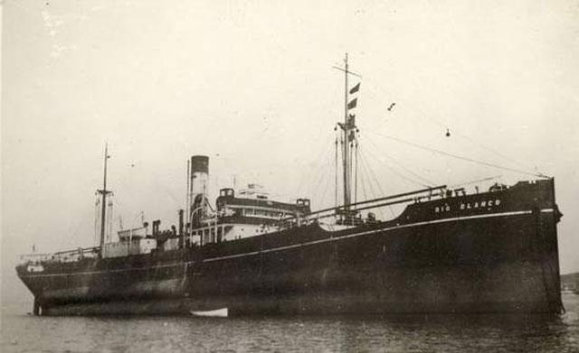 Freighter Rio Blanco, sunk on 1 April 1942 worldwartwo.filminspector.com