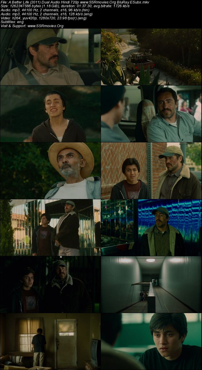 A Better Life (2011) Dual Audio Hindi 480p BluRay x264 300MB ESubs Full Movie Download