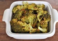 brócolis ao forno com alho frito