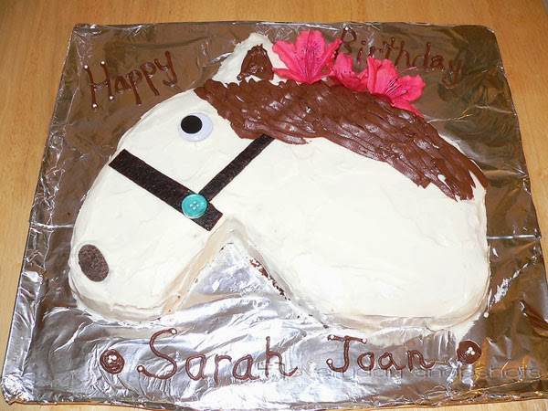 Fun Birthday Cakes without Food Coloring horse | pambarnhill.com