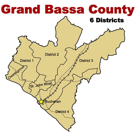 Image result for grand bassa county map