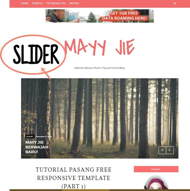 slider responsive blog