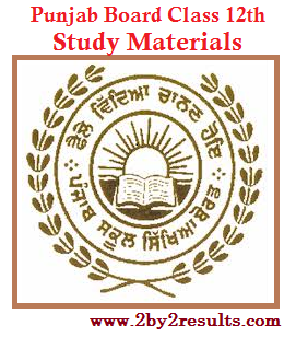 Punjab 12th Study Materials of all Subjects - PSEB