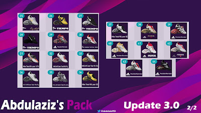 PES 2020 Legends Pack Update 3.0 by Abdulaziz [ 210 legends | 44 Classic boots ]