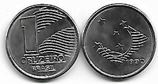 Moeda de 1 Cruzeiro, 1990