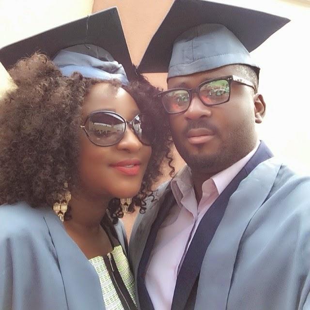 Officially Students! Ini Edo & Desmond Elliot at NOUN matriculation ceremony