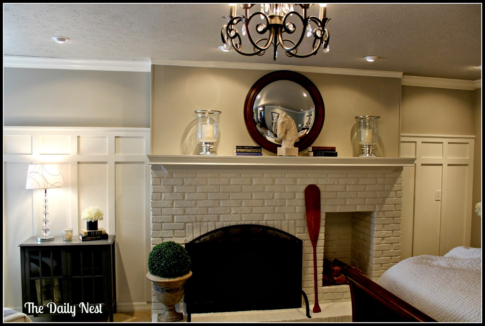 Painting The Fireplace White A Before And After