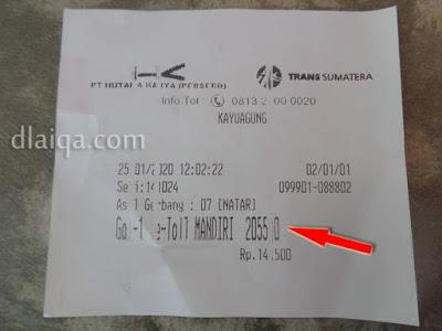 tarif tol Natar - Kayu Agung = Rp.205.500,-