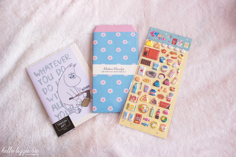 Moomin greetings card, stationery