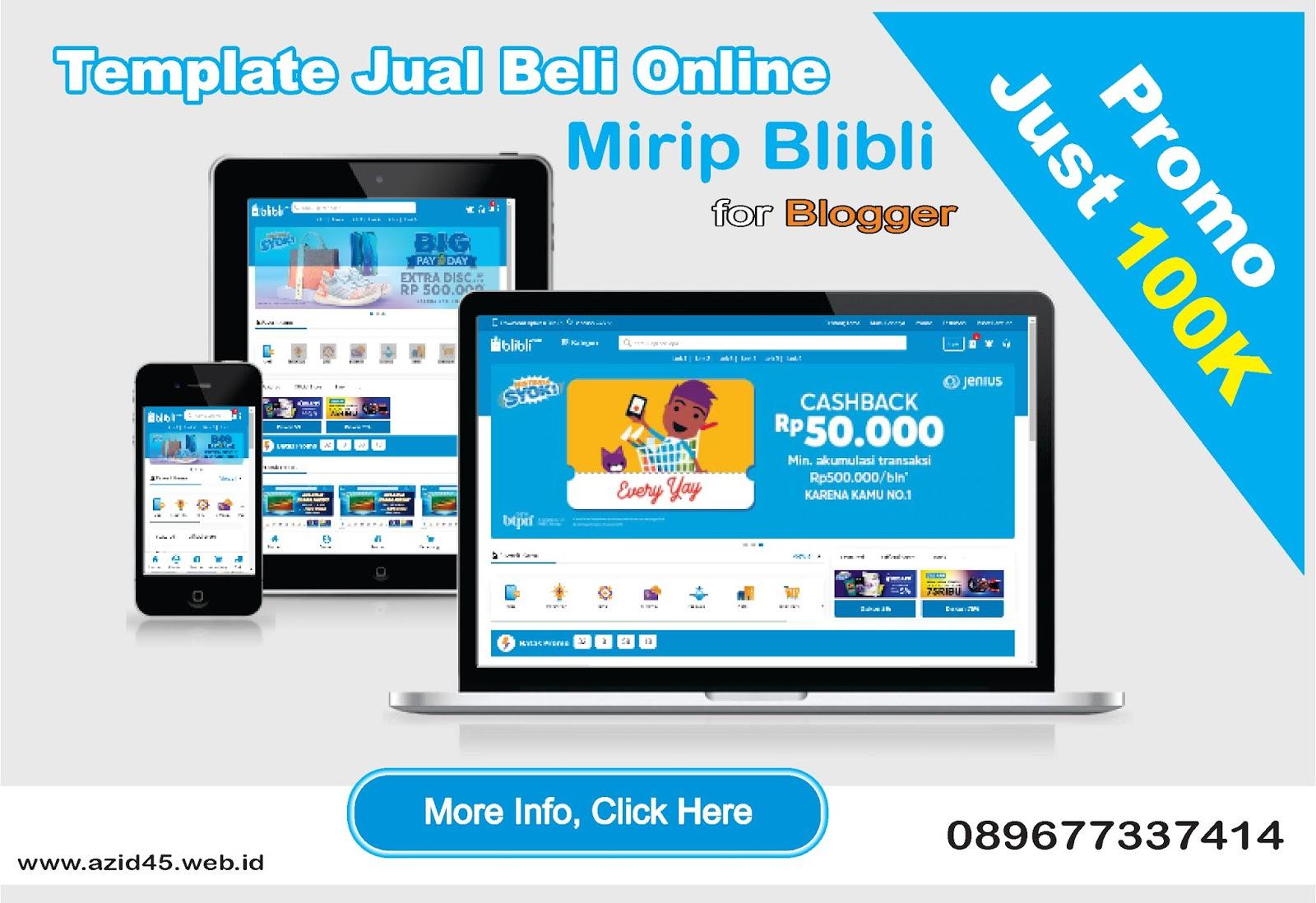 Telah Hadir Template Blogger Jual Beli Online Mirip Blibli.com