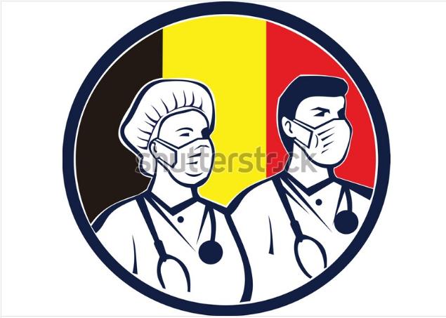 illustration logo belgian health care
