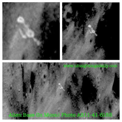 Imagen de base extraterrestre sobre la Luna