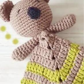 Manta de Apego Koala a Crochet