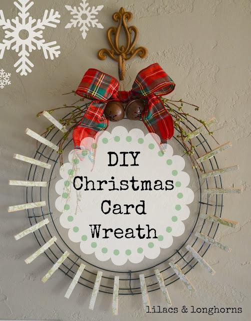 DIY Christmas Card Wreath Lilacs And LonghornsLilacs And