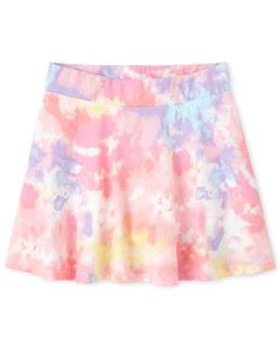 Chân váy thun kèm quần bé gái Children Place, size từ 16 đến 22kg.