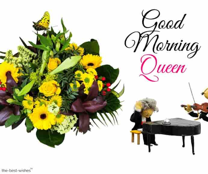 very good morning queen images