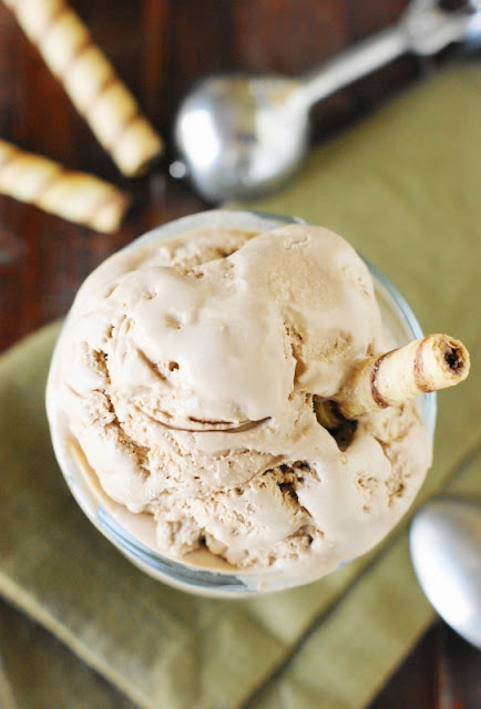 Easy 3-Ingredient Chocolate Ice Cream ~ no machine needed!   www.thekitchenismyplayground.com