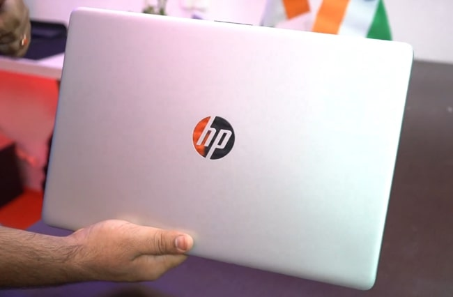 All plastic build of HP 15 15s-Eq0500AU laptop.
