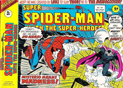 Super Spider-Man with the Super-Heroes #191, Mysterio is back