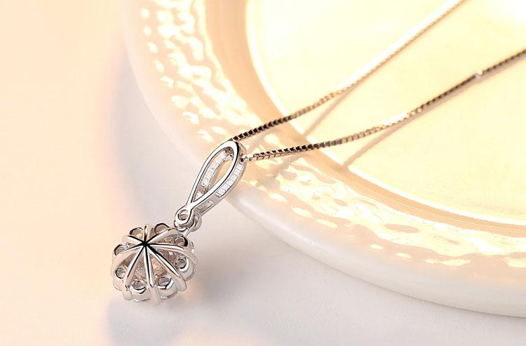 煙花華麗風鋯石 925純銀項鍊