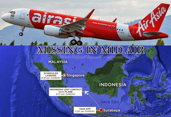 Flight of Air Asia QZ 8501 Went Missing, Official Statement and Latest Updates